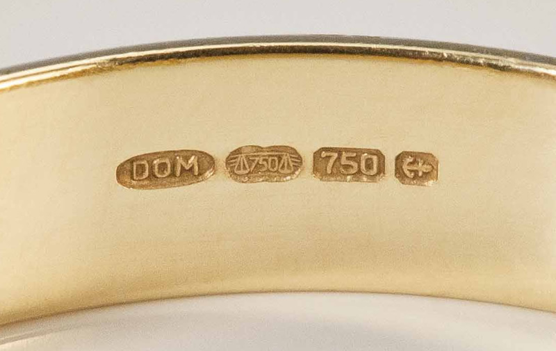 Gold Hallmarks On A Ring